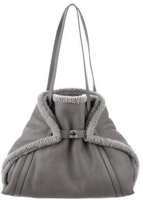 Akris Ai Medium Shearling Fur Bag