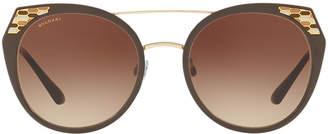 Bvlgari Bv6095 53 Brown Cat Sunglasses