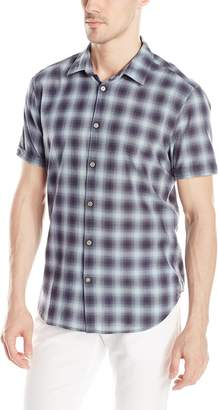 John Varvatos Men's Short Sleeve Button Down Shirt