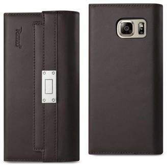 Samsung Reiko Galaxy Note 5 Genuine Leather Rfid Wallet Case And Metal Buckle Belt In Umber
