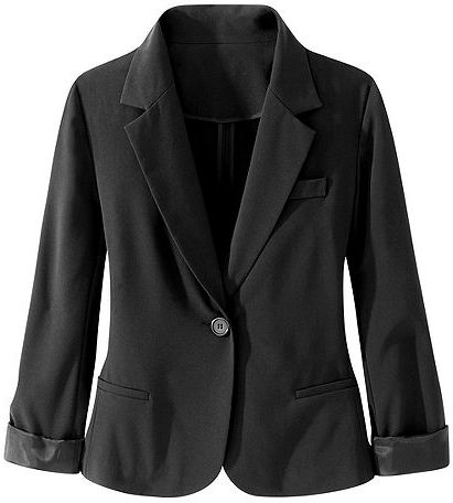 Signature Two-Way Stretch Collection: Girlfriend Blazer