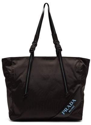 0127251de3 Prada Logo Debossed Nylon Tote Bag - Womens - Black