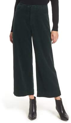 AG Jeans Etta High Waist Crop Wide Leg Corduroy Pants