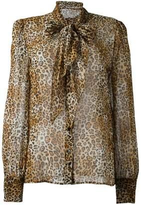 Saint Laurent signature lavaliere blouse