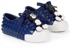 Mini Melissa Baby& Kid's Mickey Mouse Lace-Up Shiny Sneakers