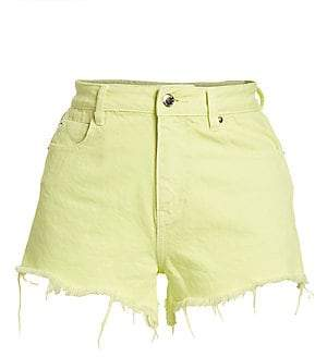 Alexander Wang Women's Neon Bite Denim Shorts