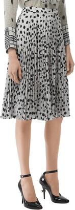 Burberry Animal Print Plisse Skirt