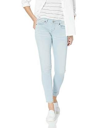 V.I.P. JEANS Women's Denim Juniors Mid Rise Slim Fitted Skinny Blue Stone Washes