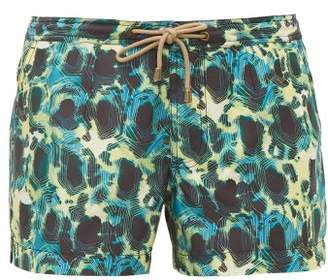 Thorsun Athena Tie Dye Beach Shorts - Womens - Green Multi