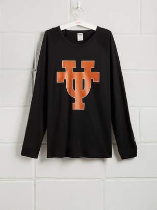 PINK University of Texas Long Sleeve Grommet Campus Tee