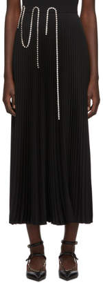 Christopher Kane Black Crystal Squiggle Cupchain Pleated Skirt