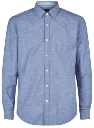 BOSS Cotton-Linen Oxford Shirt