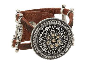 Leather Rock Claudine Bracelet