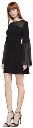 BCBGMAXAZRIA Finley Sheer-Panel Dress