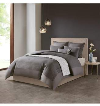 Natori N Hanae Gray Duvet Cover Set
