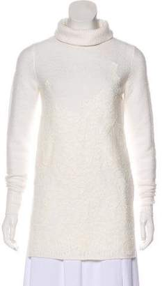 Michael Kors Long Embroidered Turtleneck Top w/ Tags