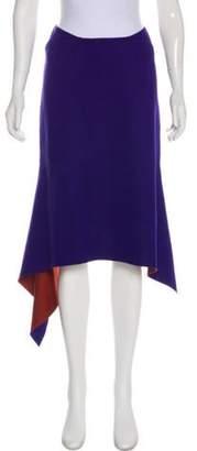 Marni Asymmetrical Midi Skirt Purple Asymmetrical Midi Skirt