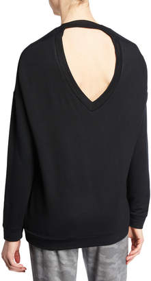 Threads For Thought Opal V-Neck Cutout Sweatshirt