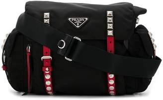 Prada studded strap crossbody bag