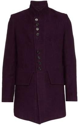 Ann Demeulemeester button-detail cotton linen jacket