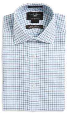 Oxxford Clothes Plaid-Print Fitted Dress Shirt