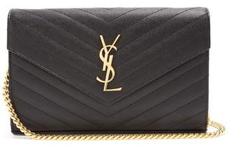 Saint Laurent - Monogram Quilted Leather Cross Body Bag - Womens - Black