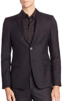 Emporio Armani Regular Fit Wool Suit Jacket