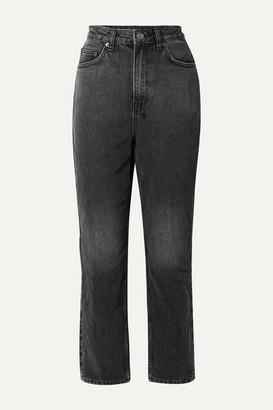 Ksubi Chlo Wasted High-rise Straight-leg Jeans - Charcoal