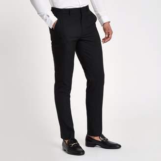 River Island Mens Black slim fit smart trousers