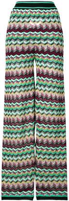 M Missoni zigzag print trousers