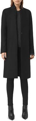 ALLSAINTS Nehru Notch Collar Coat $530 thestylecure.com