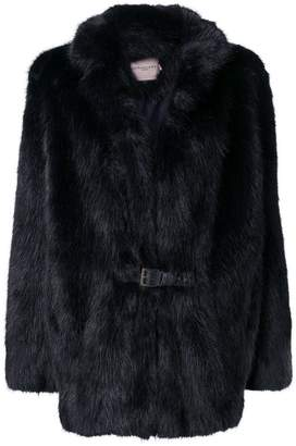 Urban Code Urbancode belted fur jacket