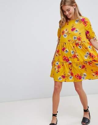 QED London Floral Print Shift Dress