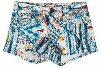 Rag & Bone Printed Mini Shorts