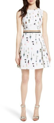 Women's Ted Baker London Tetro Sleeveless Fit & Flare Dress $299 thestylecure.com