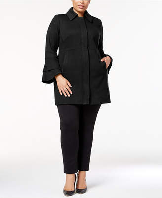 INC International Concepts I.N.C. Plus Size Ruffle-Sleeve Jacket, Created for Macy's