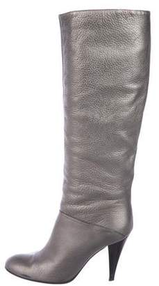 Casadei Metallic Knee-High Boots