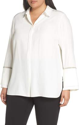 Lafayette 148 New York Katja Chain Detail Silk Blouse
