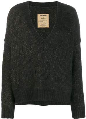 UMA WANG deconstructed knit sweater