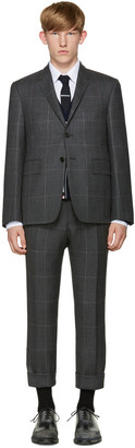 Thom Browne Grey Hairline Overcheck Classic Suit $3,200 thestylecure.com