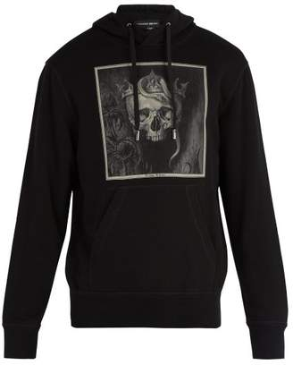 Alexander McQueen Skull Print Hooded Sweatshirt - Mens - Black Multi