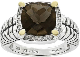 Couture FINE JEWELRY Shey Smoky Quartz and Diamond-Accent Sterling Silver Antiqued Ring