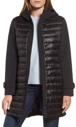 Gallery Hooded Soft Shell Puffer Hybrid Coat