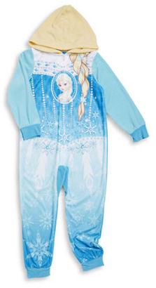 Ame Sleepwear Hooded Elsa Fleece Footless Pajamas $44 thestylecure.com