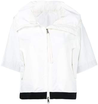 Moncler contrast trim cropped jacket