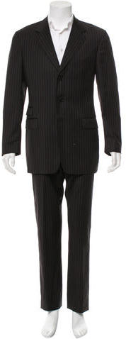 Paul SmithPaul Smith Wool Striped Two-Piece Suit