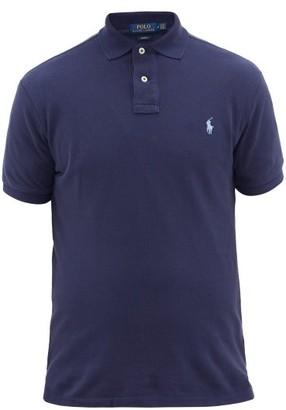 Polo Ralph Lauren Slim Fit Cotton Pique Polo Shirt - Mens - Navy