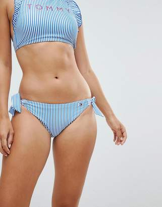 Tommy Hilfiger Seersucker Side Tie Bikini Bottom
