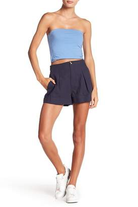 GOOD LUCK GEM High Waist Pleat Front Shorts