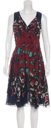 Oscar de la Renta Resort 2012 Silk Printed Midi Dress